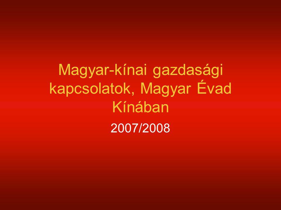 Magyar-kínai gazdasági kapcsolatok, Magyar Évad Kínában 2007/2008