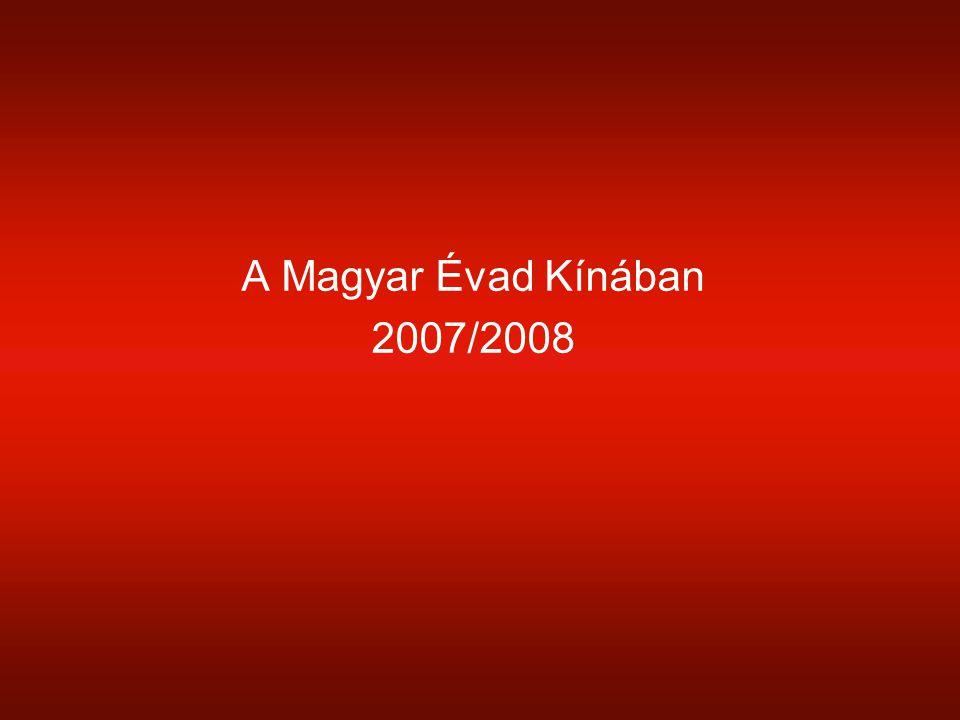 A Magyar Évad Kínában 2007/2008