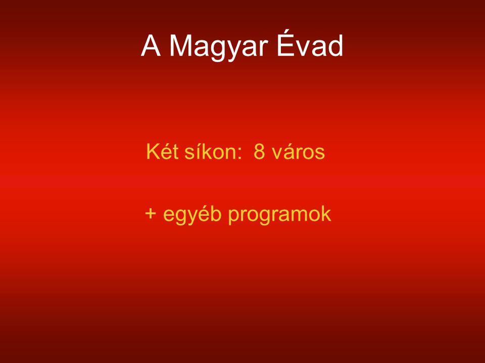 A Magyar Évad Két síkon: 8 város + egyéb programok