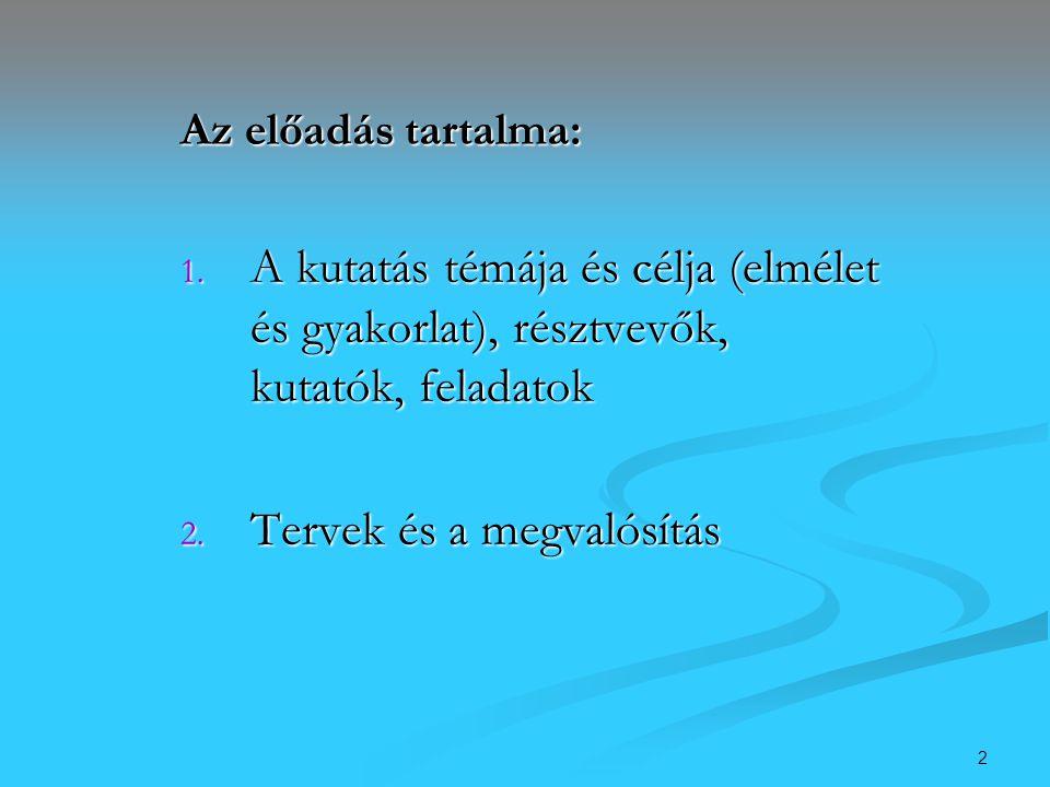 13 Elkészült a honlapunk is… www.fogyat77.socio.mta.hu Mire és miért jött létre.