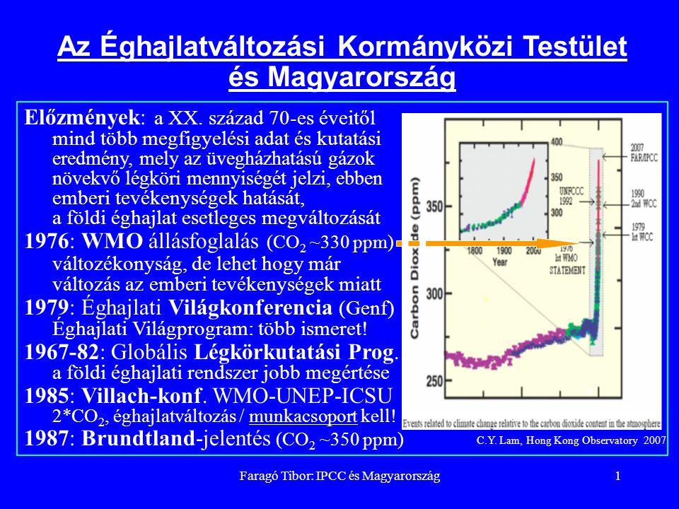 Faragó Tibor: IPCC és Magyarország2 felszín sztratoszféra zivatarfelhő troposzféra Az Éghajlatváltozási Kormányközi Testület alapítása és feladata 1988: UNEP (M.Tolba) és WMO (G.O.P.