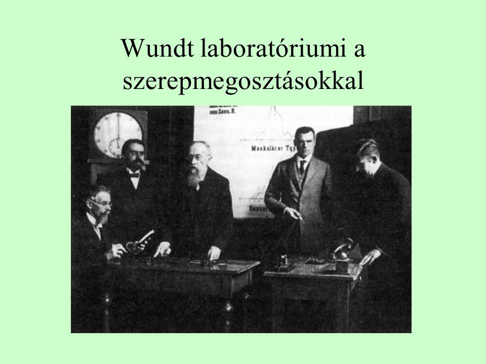Wundt laboratóriumi a szerepmegosztásokkal