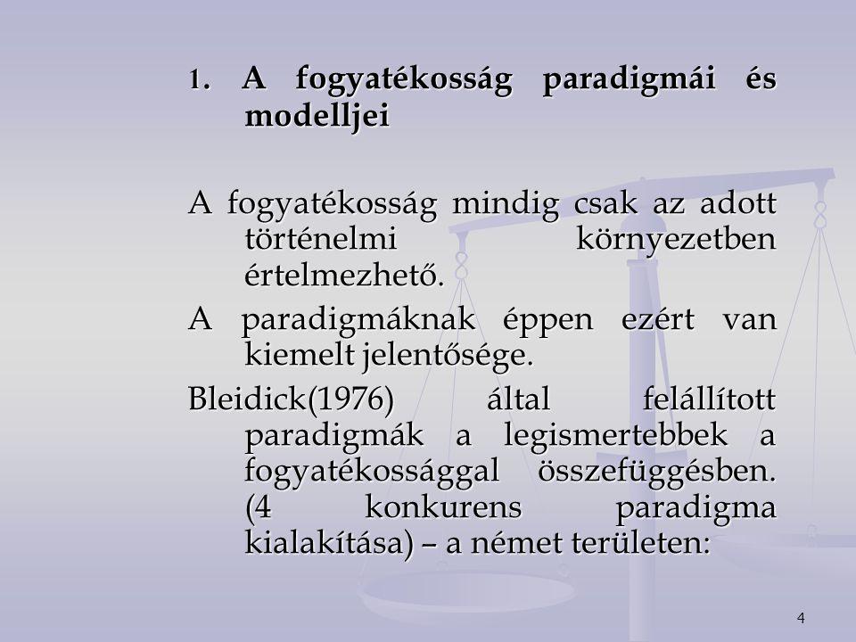4 1. A fogyatékosság paradigmái és modelljei A fogyatékosság mindig csak az adott történelmi környezetben értelmezhető. A paradigmáknak éppen ezért va