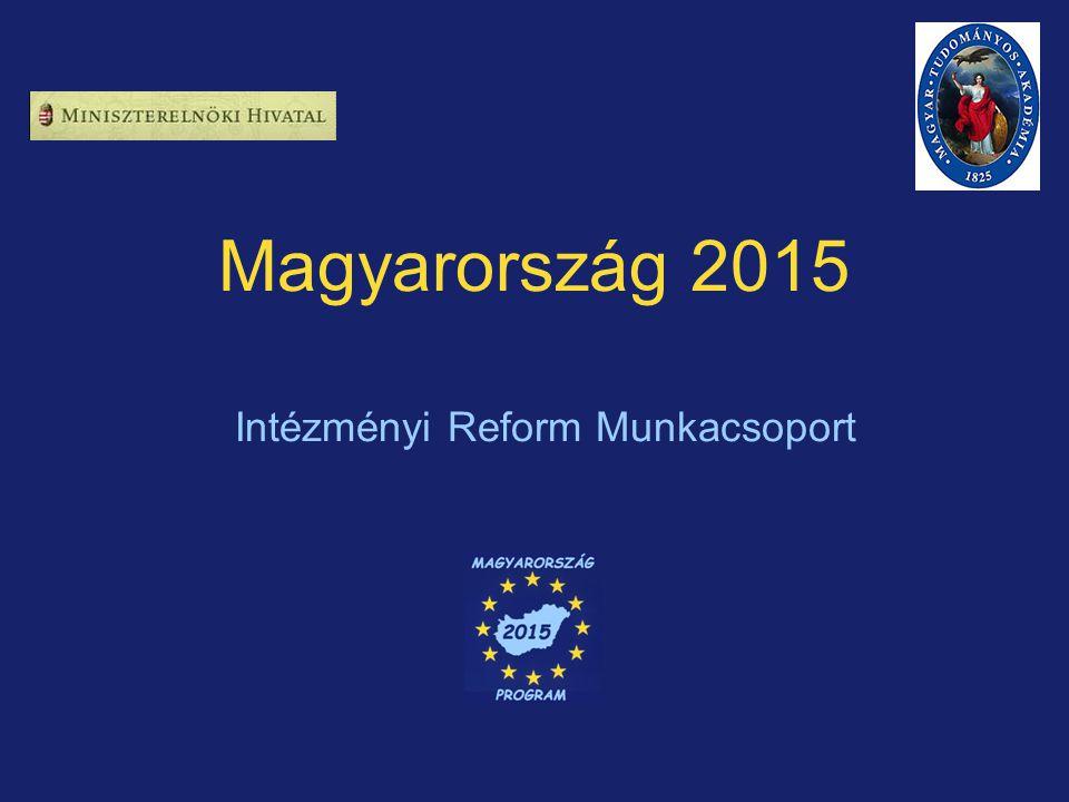 Magyarország 2015 Intézményi Reform Munkacsoport