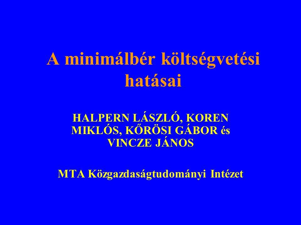 Bevezetés Járai (pénzügyminiszter) et al: A minimálbér emelése fehéríti a gazdaságot, növeli az adó- és járulék-bevételeket.