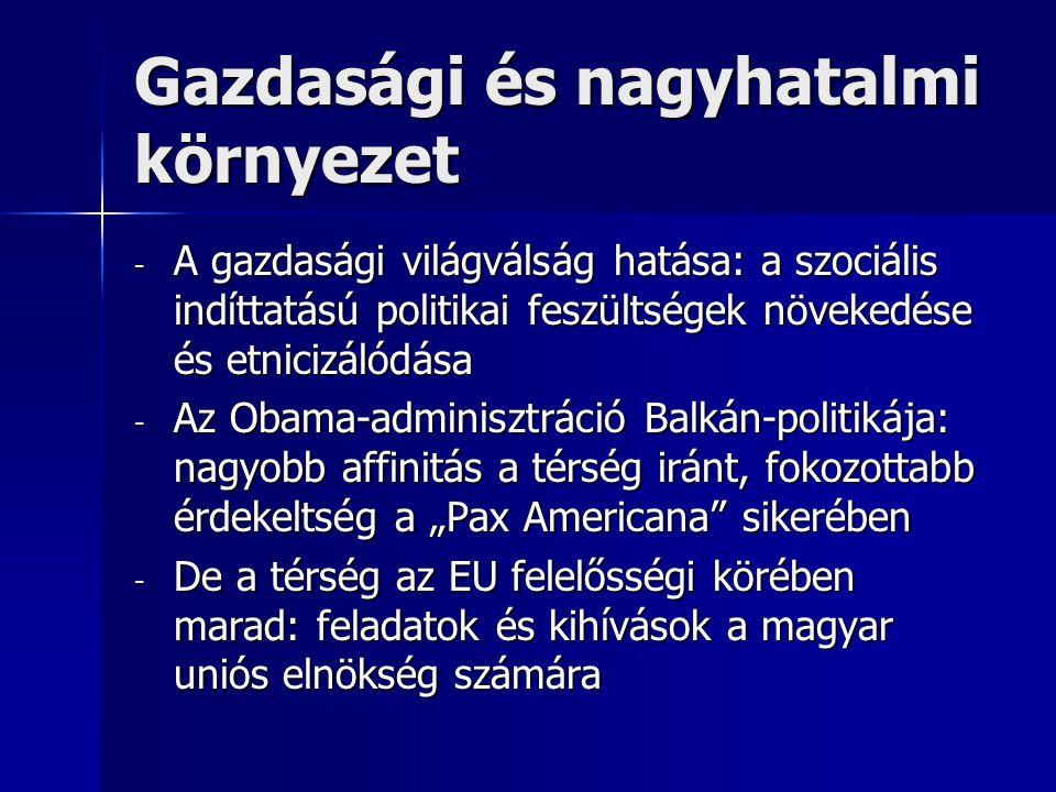 """Koszovó - - A függetlenség visszafordíthatatlan - - Az """"államkudarc-szindróma veszélye a nemzetközi figyelem csökkenése esetén - - Észak-Mitrovica"""