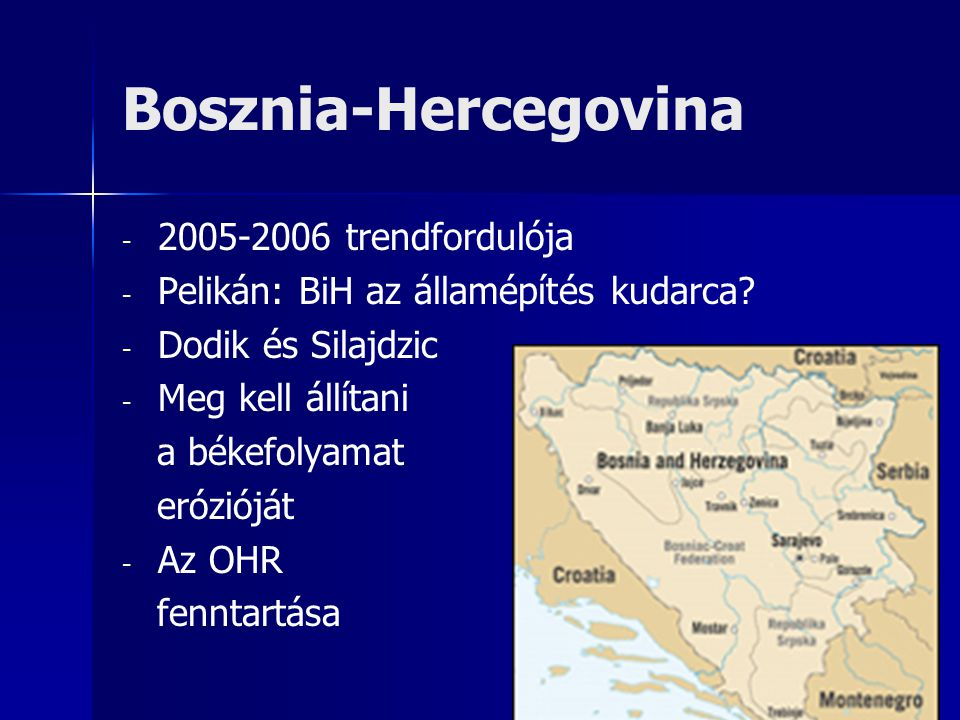 Bosznia-Hercegovina - - 2005-2006 trendfordulója - - Pelikán: BiH az államépítés kudarca.