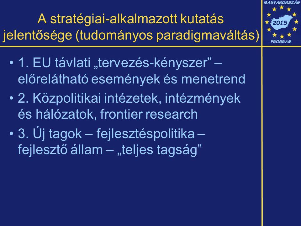 A stratégiai-alkalmazott kutatás jelentősége (tudományos paradigmaváltás) 1.