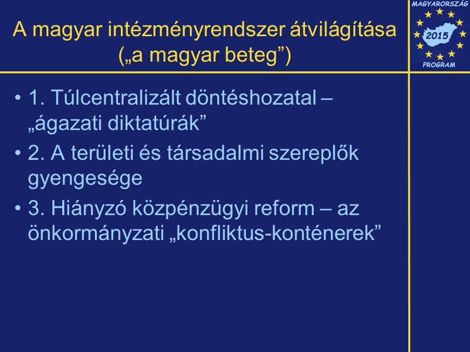 """A magyar intézményrendszer átvilágítása (""""a magyar beteg ) 1."""