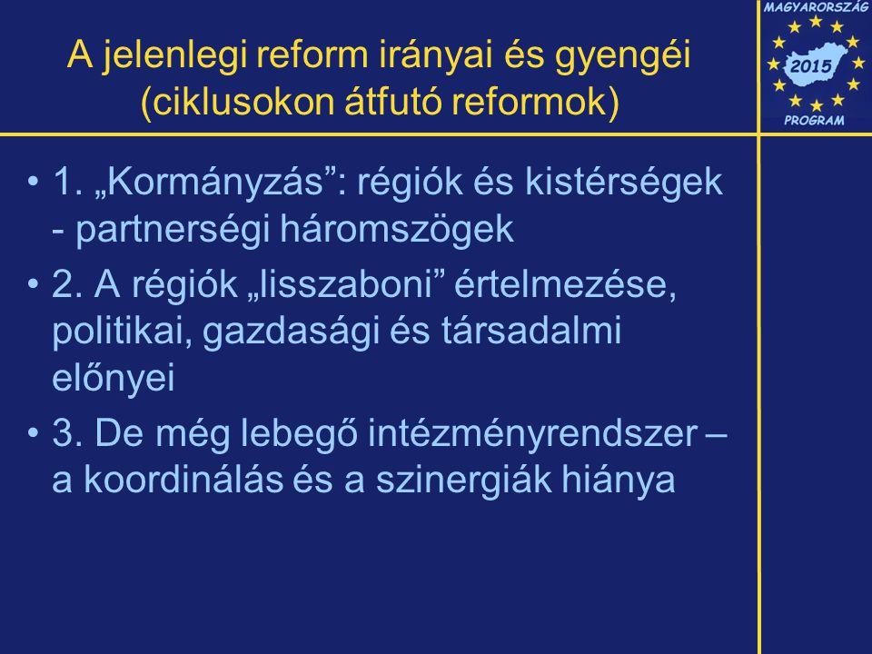 A jelenlegi reform irányai és gyengéi (ciklusokon átfutó reformok) 1.