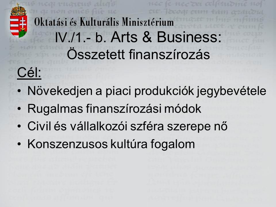 IV./1.- b.