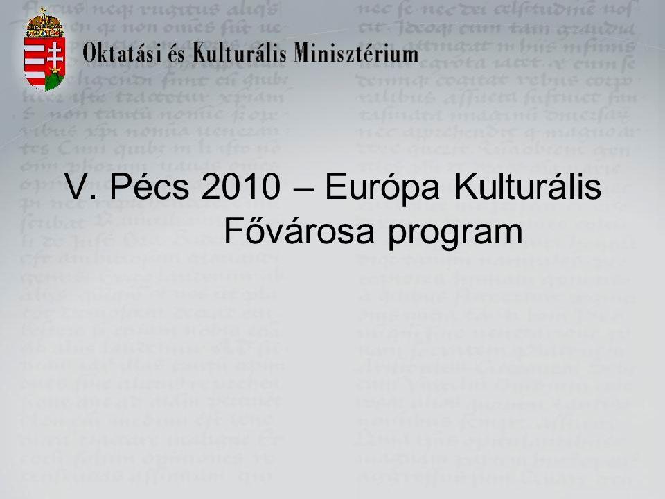 V. Pécs 2010 – Európa Kulturális Fővárosa program