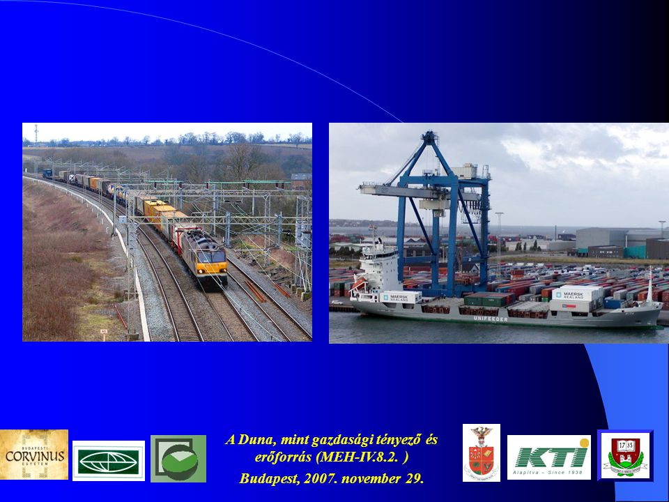 A Duna, mint gazdasági tényező és erőforrás (MEH-IV.8.2. ) Budapest, 2007. november 29. Az EU importja Kínából, ill. exportja Kína felé (2005) Gépek,
