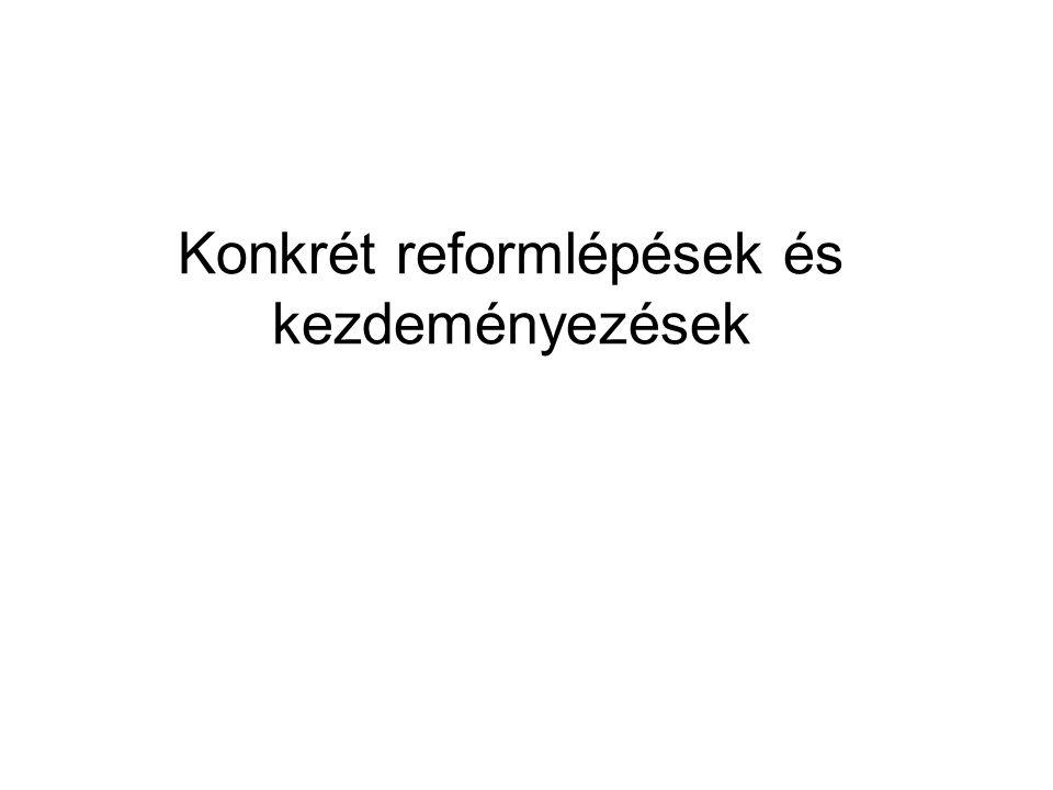 Konkrét reformlépések és kezdeményezések