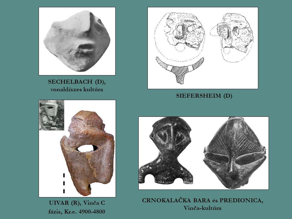 SECHELBACH (D), vonaldíszes kultúra SIEFERSHEIM (D) UIVAR (R), Vinča C fázis, Kr.e.