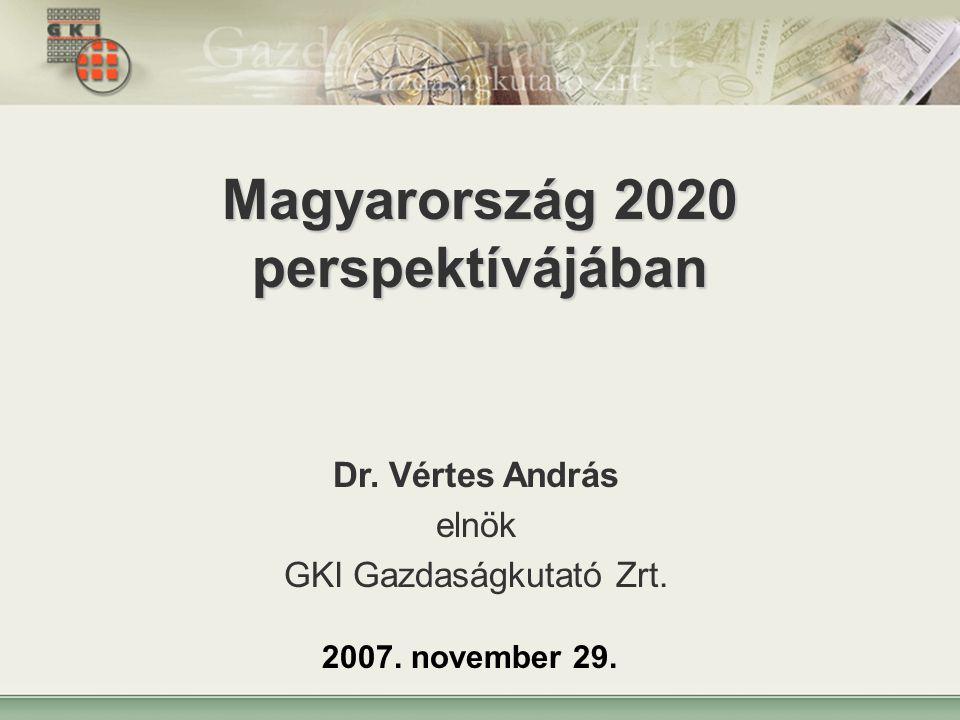 1 Magyarország 2020 perspektívájában Dr. Vértes András elnök GKI Gazdaságkutató Zrt.