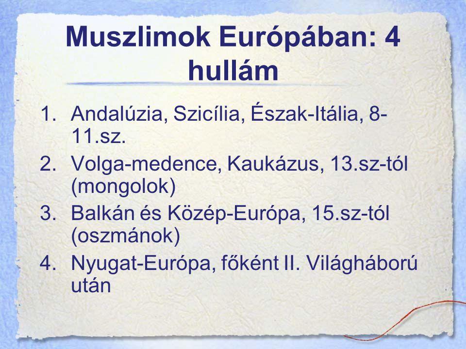 Muszlimok Európában: 4 hullám 1.Andalúzia, Szicília, Észak-Itália, 8- 11.sz.
