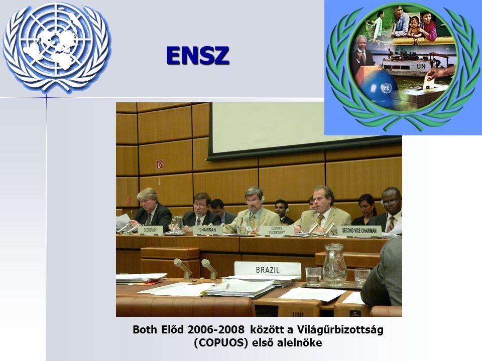 ENSZ Both Előd 2006-2008 között a Világűrbizottság (COPUOS) első alelnöke