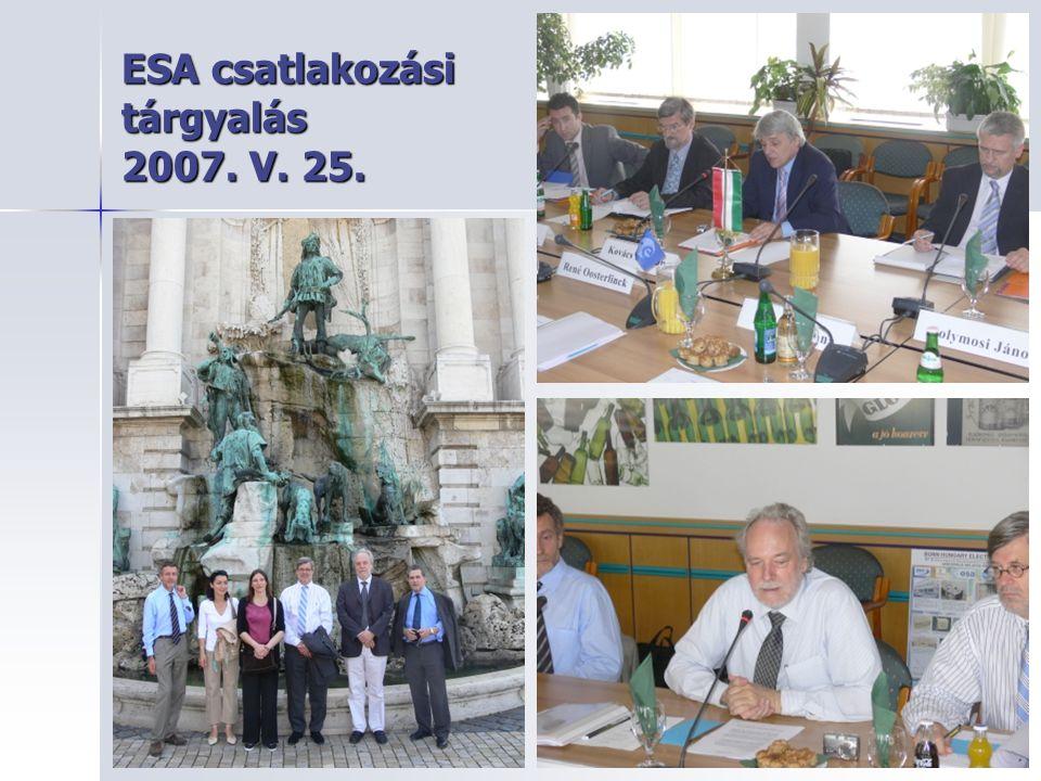 ESA csatlakozási tárgyalás 2007. V. 25.