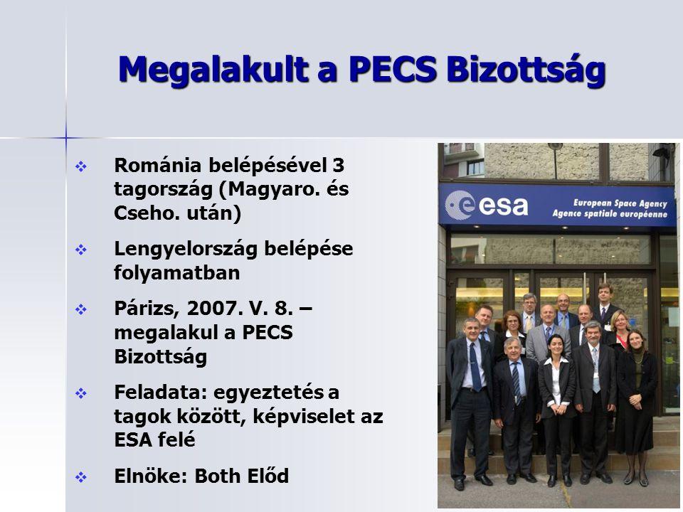 Megalakult a PECS Bizottság   Románia belépésével 3 tagország (Magyaro. és Cseho. után)   Lengyelország belépése folyamatban   Párizs, 2007. V.