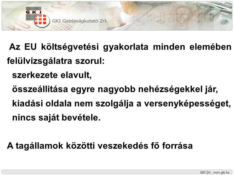 GKI Zrt., www.gki.hu Szabad-e a nettó költségvetési pozícióról szóló alkudozást folytatni.