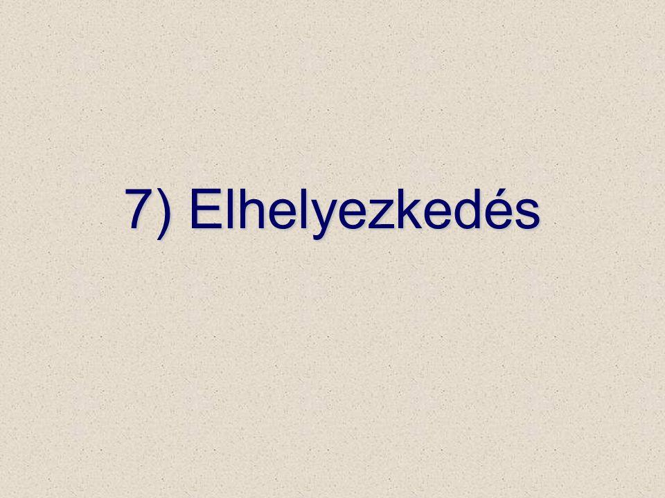 7) Elhelyezkedés