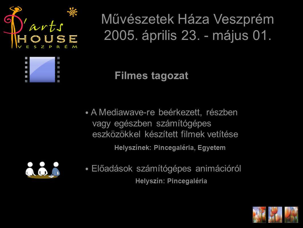 Művészetek Háza Veszprém 2005. április 23. - május 01.