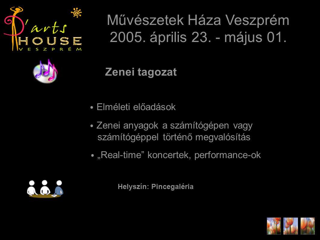 Zenei tagozat Művészetek Háza Veszprém 2005. április 23.