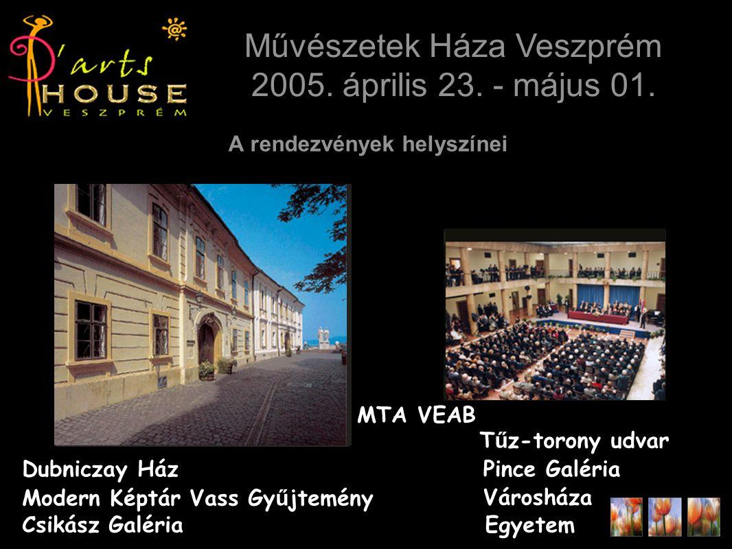 A rendezvények helyszínei Művészetek Háza Veszprém 2005.