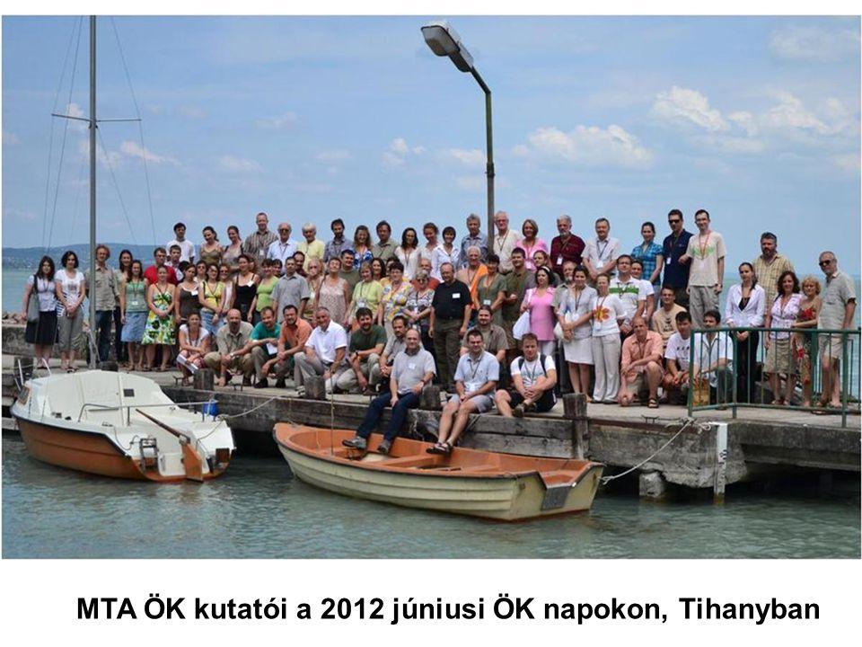 MTA ÖK kutatói a 2012 júniusi ÖK napokon, Tihanyban