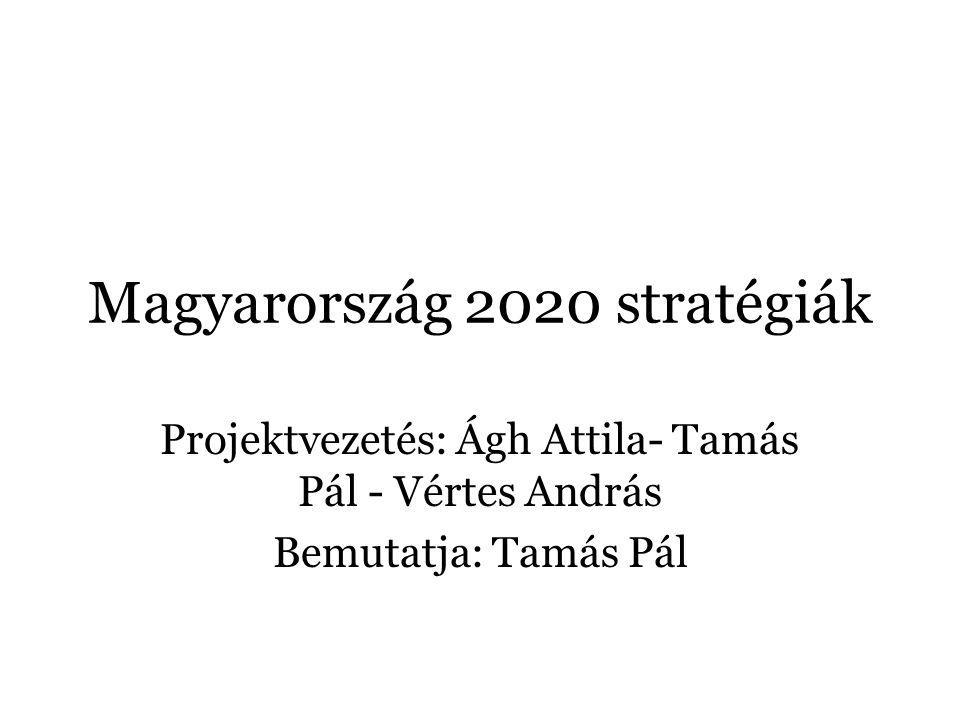 Magyarország 2020 stratégiák Projektvezetés: Ágh Attila- Tamás Pál - Vértes András Bemutatja: Tamás Pál