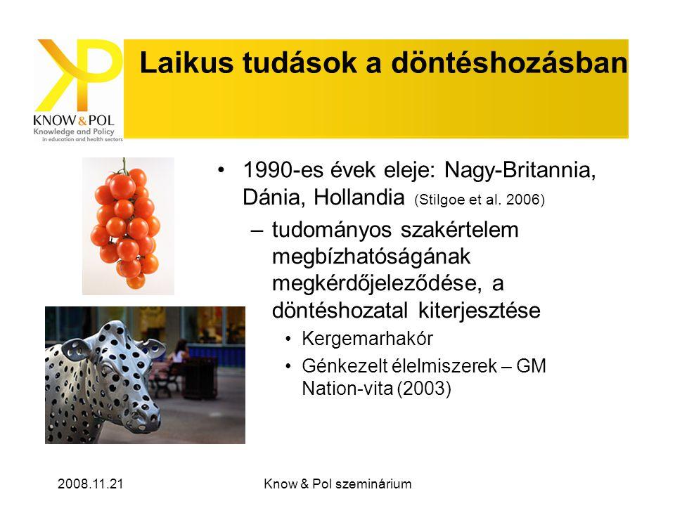 2008.11.21Know & Pol szeminárium Hogyan vonható be a nyilvánosság a politikai döntéshozatalba.