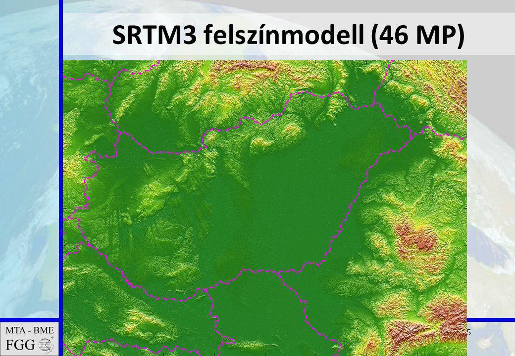 2011.02.16. MTA tudományos ülés15 SRTM3 felszínmodell (46 MP)