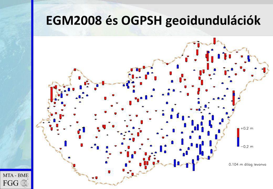 2011.02.16. MTA tudományos ülés23 EGM2008 és OGPSH geoidundulációk