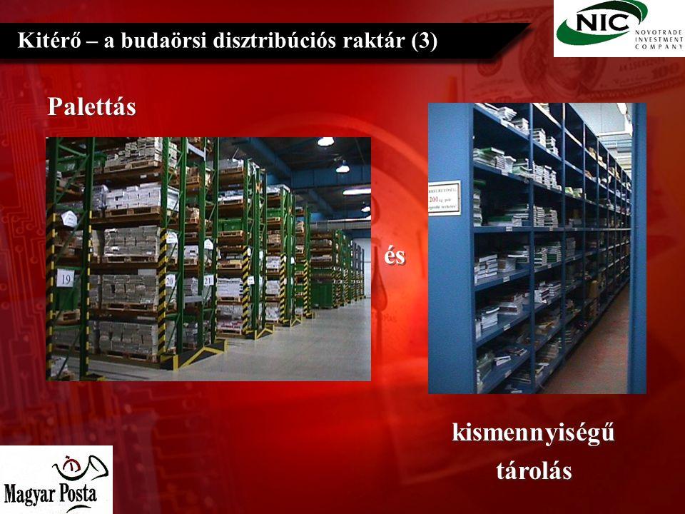 Palettás Kitérő – a budaörsi disztribúciós raktár (3) és és kismennyiségű tárolás kismennyiségű tárolás