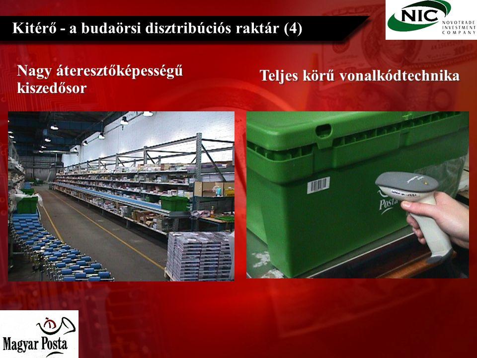 Nagy áteresztőképességű kiszedősor Kitérő - a budaörsi disztribúciós raktár (4) Teljes körű vonalkódtechnika