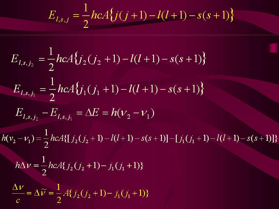 2S2S 2P2P 16 968 cm -1 2 P 3/2 2 P 1/2 Na-atom A Na =11,5 cm -1 cm -1