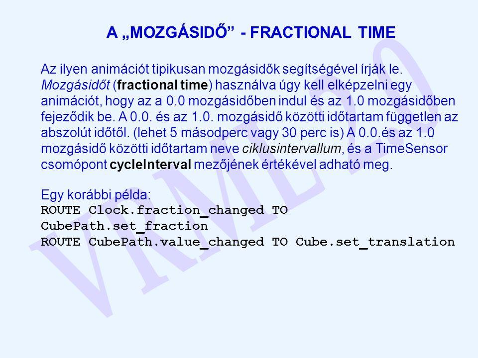"""A """"MOZGÁSIDŐ"""" - FRACTIONAL TIME Az ilyen animációt tipikusan mozgásidők segítségével írják le. Mozgásidőt (fractional time) használva úgy kell elképze"""