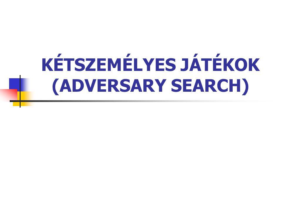 KÉTSZEMÉLYES JÁTÉKOK (ADVERSARY SEARCH)