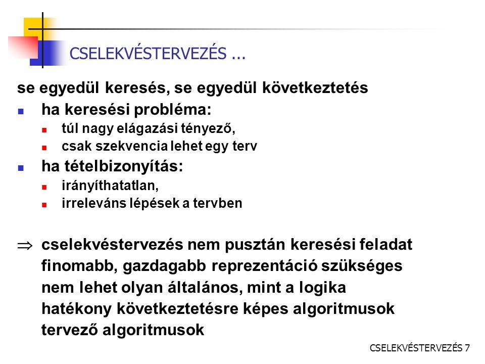 CSELEKVÉSTERVEZÉS 7 CSELEKVÉSTERVEZÉS...
