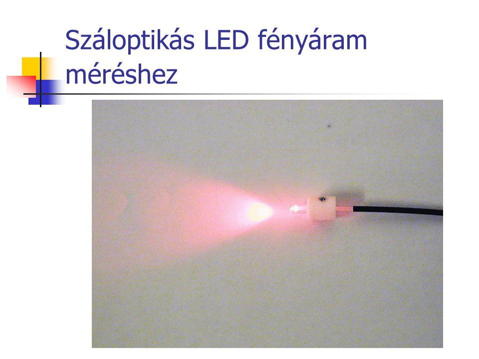 Száloptikás LED fényáram méréshez