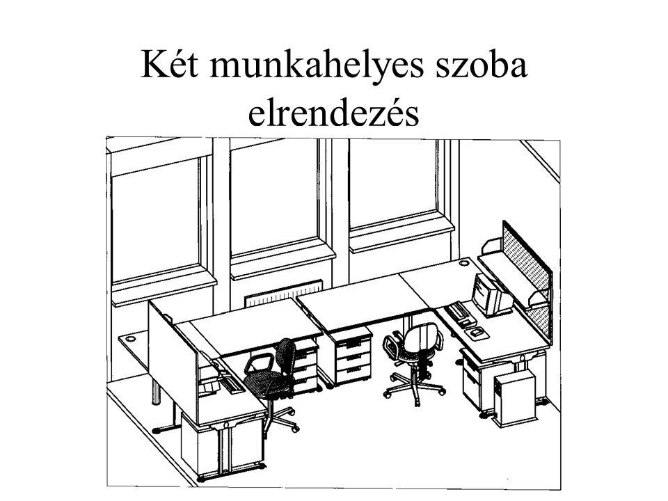 Két munkahelyes szoba elrendezés