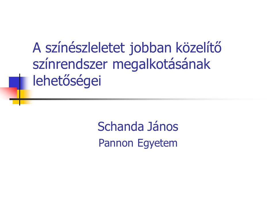 A színészleletet jobban közelítő színrendszer megalkotásának lehetőségei Schanda János Pannon Egyetem