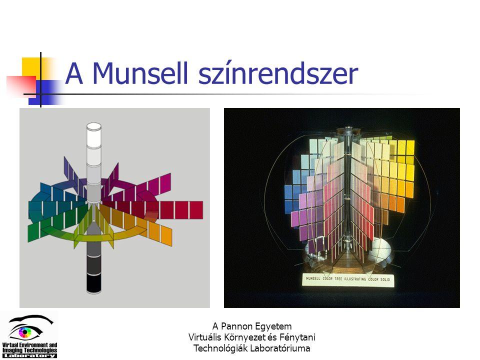 A Pannon Egyetem Virtuális Környezet és Fénytani Technológiák Laboratóriuma A Munsell színrendszer