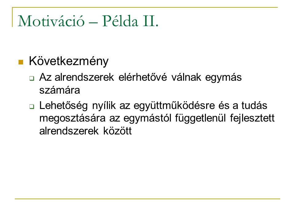 Motiváció – Példa II.