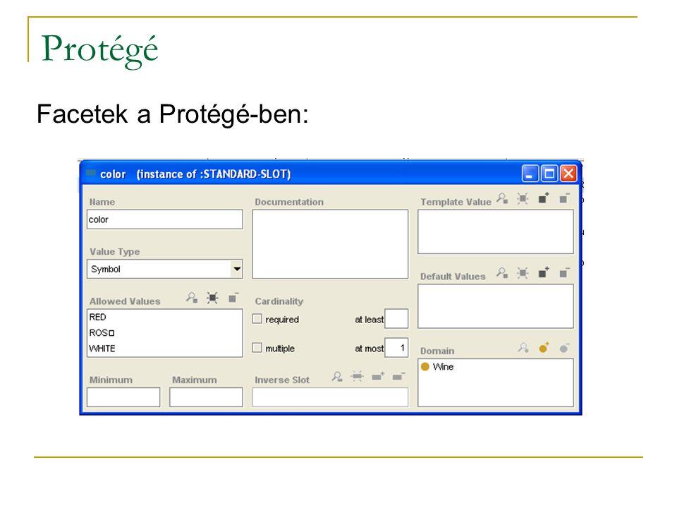 Protégé Facetek a Protégé-ben:
