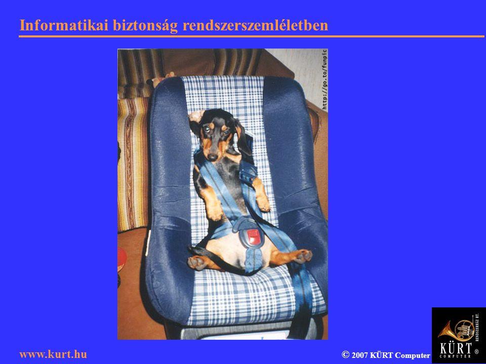 Informatikai biztonság rendszerszemléletben © 2007 KÜRT Computer www.kurt.hu