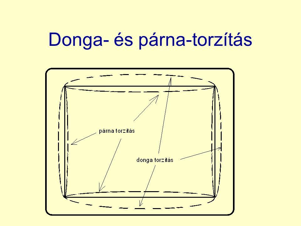 Donga- és párna-torzítás