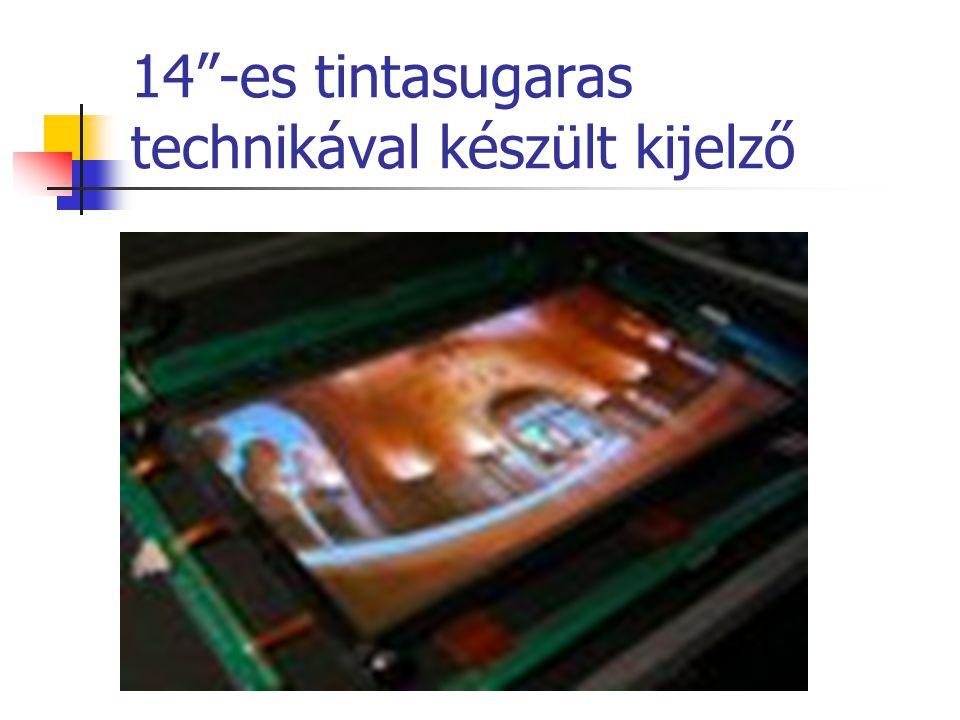 """14""""-es tintasugaras technikával készült kijelző"""