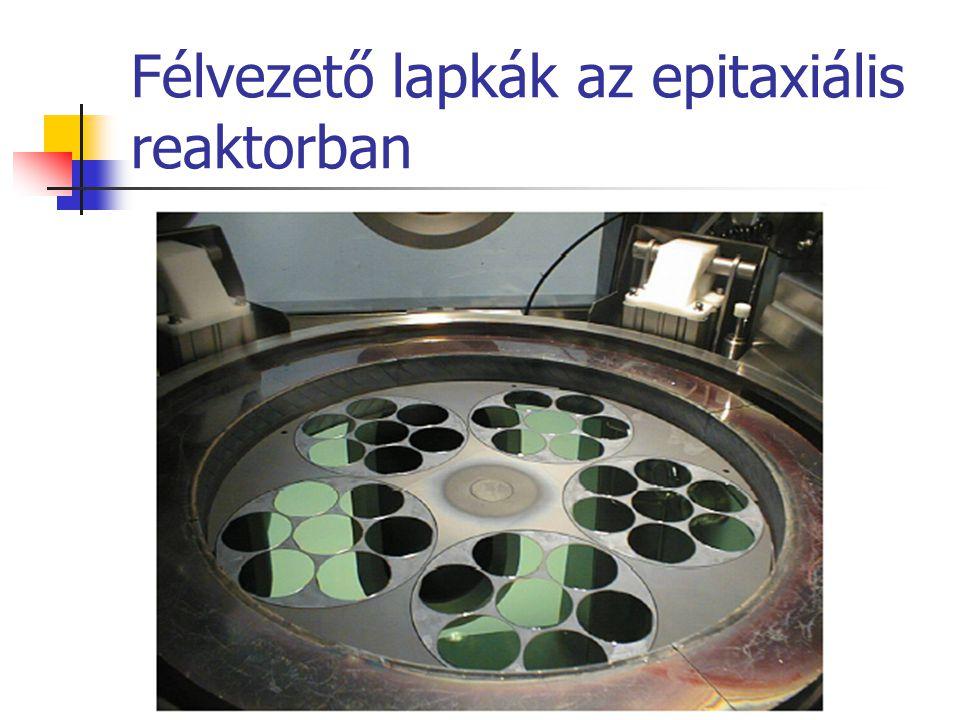 Félvezető lapkák az epitaxiális reaktorban